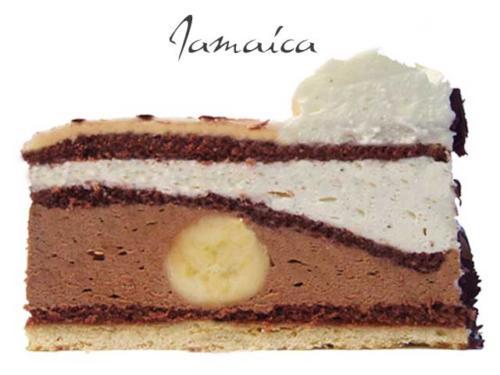 Brownie mit gerösteten Pekannüssen, Schoko- Philadelphia Creme und knusprigem Keksboden.