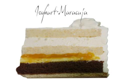 Leichte, fruchtige Joghurt-Maracuja-Creme auf Schoko-Brownie mit karamellisierten Pekannüssen. Geschmacksrichtungen